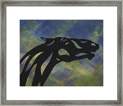Fred - Abstract Horse Framed Print by Manuel Sueess