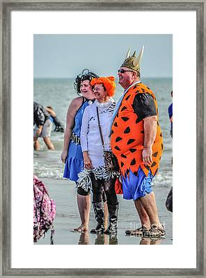 Fred And Wilma Framed Print by Yvette Wilson