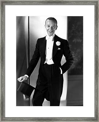 Fred Astaire At The Time Of Follow The Framed Print