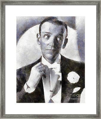 Fred Astaire By Sarah Kirk Framed Print
