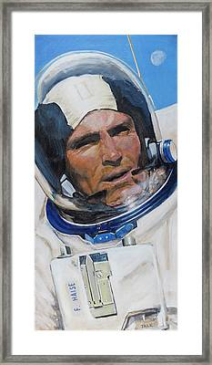 Fred Haise Framed Print by Simon Kregar