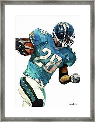 Fred Taylor Jacksonville Jaguars Framed Print by Michael Pattison