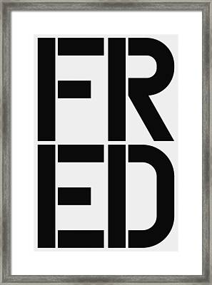 Fred Framed Print by Three Dots