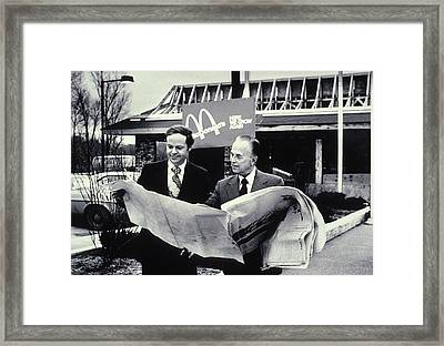 Fred Turner And Ray Kroc The Executive Framed Print