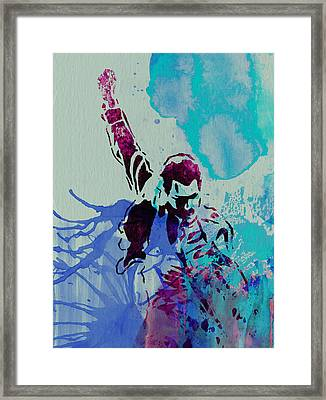 Freddie Mercury Framed Print by Naxart Studio