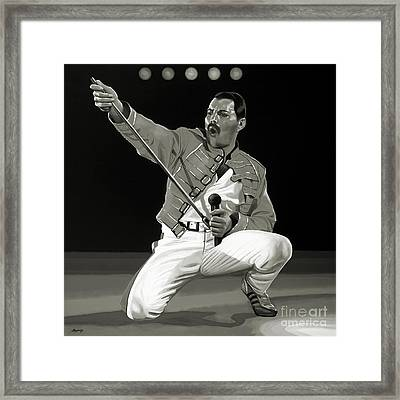 Freddie Mercury Of Queen Framed Print