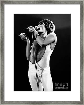 Freddie Mercury On Stage Framed Print