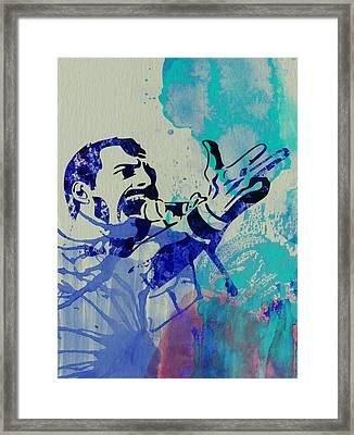Freddie Mercury Queen Framed Print by Naxart Studio