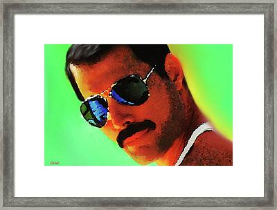 Freddie Mercury R I P  Framed Print by Enki Art