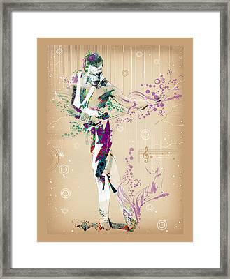 Freddie Mercury Vintage 3 Framed Print by Bekim Art