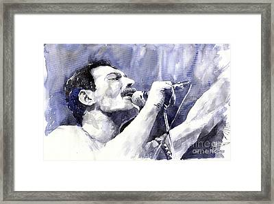 Freddie Mercury Framed Print by Yuriy Shevchuk