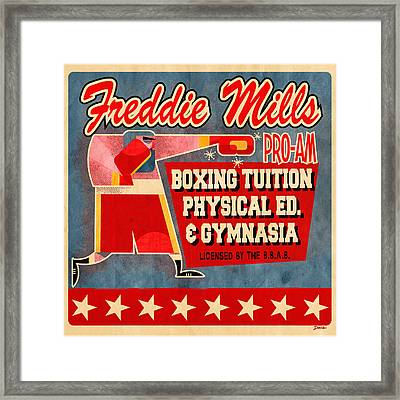 Freddie Mills Framed Print by Daviz Industries