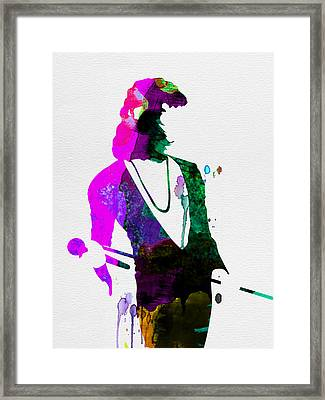 Freddie Watercolor Framed Print by Naxart Studio