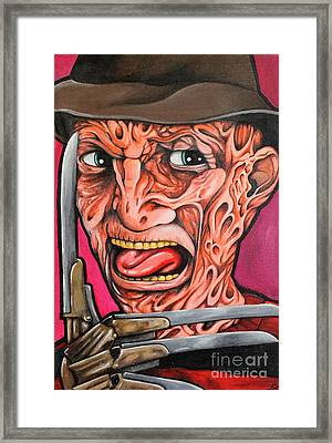 Freddy Kruger Framed Print by Dan Gee