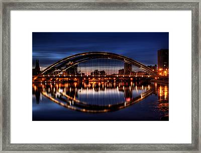 Freddy Sue Bridge Over The Genesee Framed Print