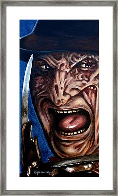 Framed Print featuring the painting Freddy Up Close And Personal by Al  Molina