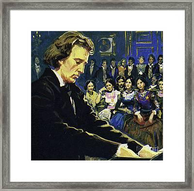 Frederic Chopin   The Tragic Genius Framed Print by English School