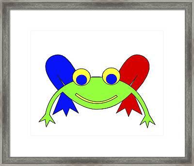 Frederic The Frog Framed Print by Asbjorn Lonvig