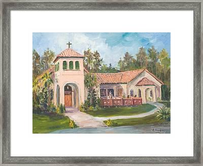 Frederica Presbyterian Church Framed Print by Albert Fendig