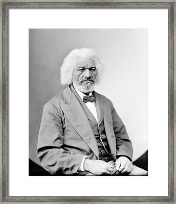 Frederick Douglass 1818-1895, African Framed Print by Everett
