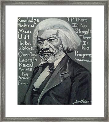 Frederick Douglass Framed Print by Jason Majiq Holmes
