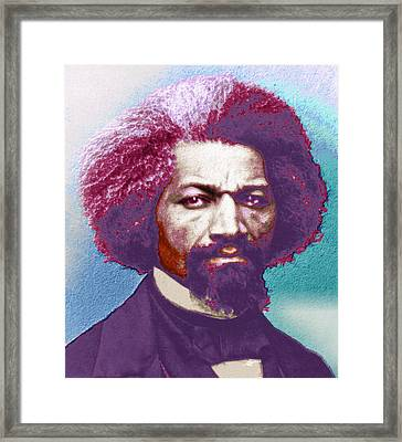 Frederick Douglass Painting In Color Pop Art Framed Print