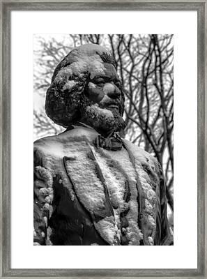 Frederick Douglass Statue Ny Historical Society Framed Print