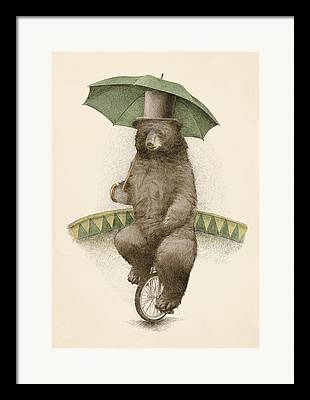 Umbrella Drawings Framed Prints