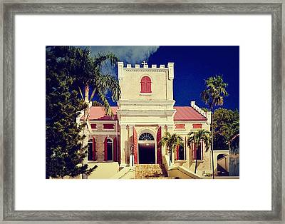Frederick Lutheran Church In St. Thomas Framed Print by Peter Parker