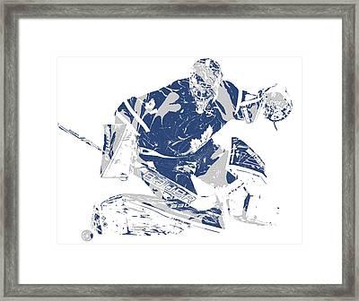 Frederik Andersen Toronto Maple Leafs Pixel Art 5 Framed Print