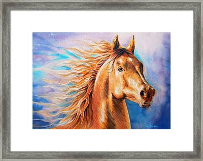 Free As The Wind Framed Print by J- J- Espinoza