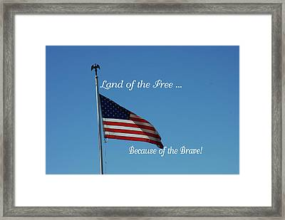 Free Because Of Brave Framed Print by Robyn Stacey