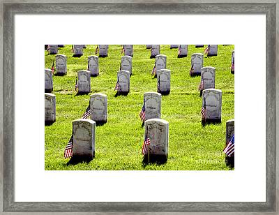 Free Blacks At Arlington Framed Print by Paul W Faust - Impressions of Light