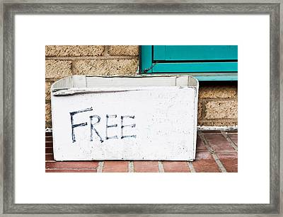 Free Box Framed Print by Tom Gowanlock