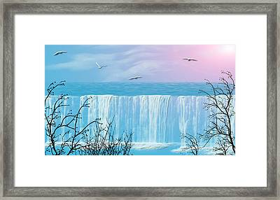 Free Falling Framed Print by Evelyn Patrick