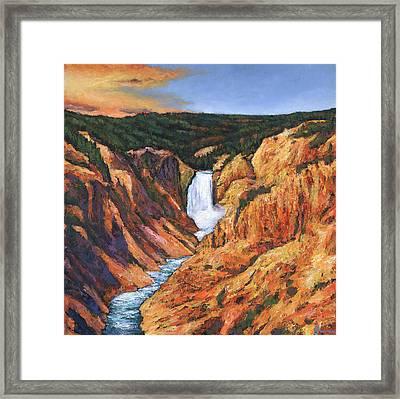 Free Falling Framed Print