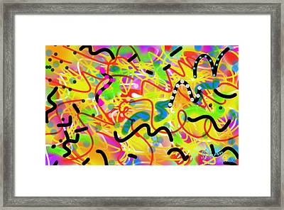 Free For All Framed Print