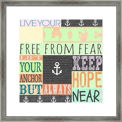 Free From Fear Framed Print by Brandi Fitzgerald