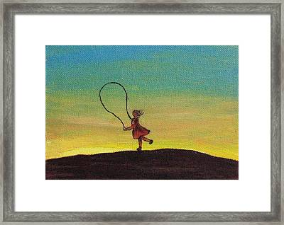 Framed Print featuring the painting Free Heart by Trilby Cole