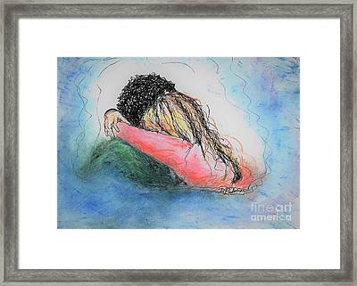 Framed Print featuring the mixed media Free Hugs by Denise Fulmer