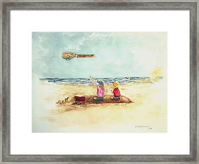 Free Ice Cream Framed Print by Miroslaw  Chelchowski