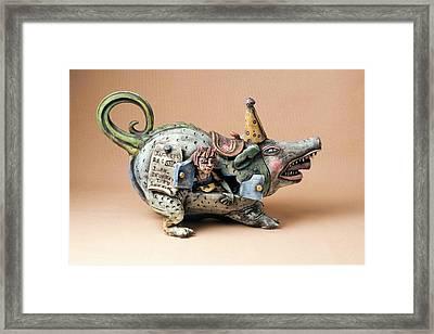 Free Ride Framed Print by Kathleen Raven