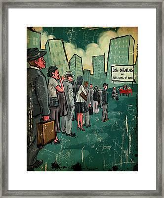 Free Soup Framed Print by Baird Hoffmire