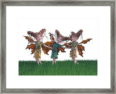 Free Spirit Friends Framed Print by Betsy Knapp