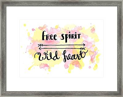 Free Spirit Wild Heart Watercolor Framed Print by Michelle Eshleman