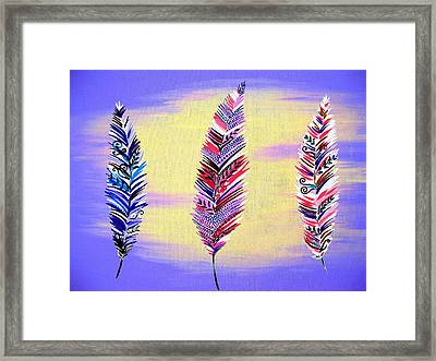 Free Spirited- Mauve Framed Print by Cathy Jacobs