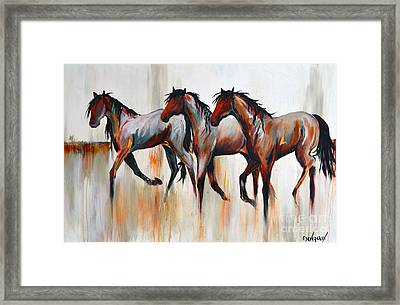 Framed Print featuring the painting Free Spirits by Cher Devereaux