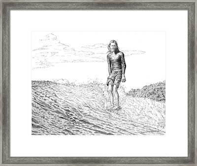 Free Surfer Framed Print by John Hopson