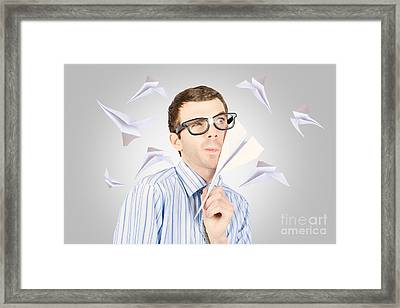 Free Thinking To Thoughts Fly Framed Print
