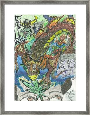 Free Ur Mind Framed Print by Justin Chase